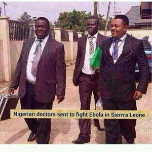 JOke Of The Day! Ebola Doctors From Nigeria Has Cure!!!